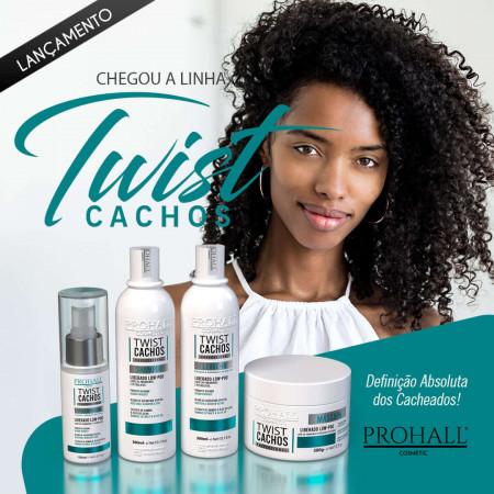 Prohall Máscara Ultra Hidratante Low Poo Twist Cachos 300g