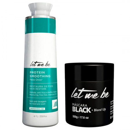 Kit Progressiva Let Me Be 1L s/F + Máscara Black Blond Up 500g