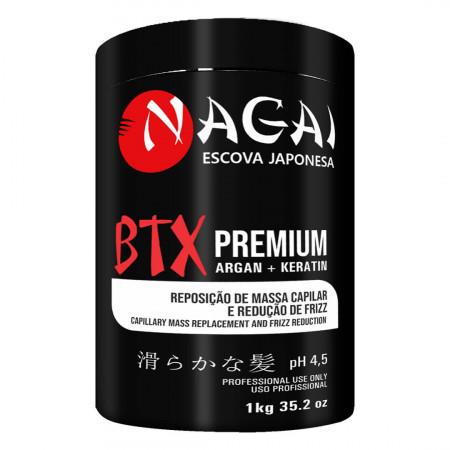 Nagai Btx Premium Reposição De Massa Capilar Redução Frizz 1Kg
