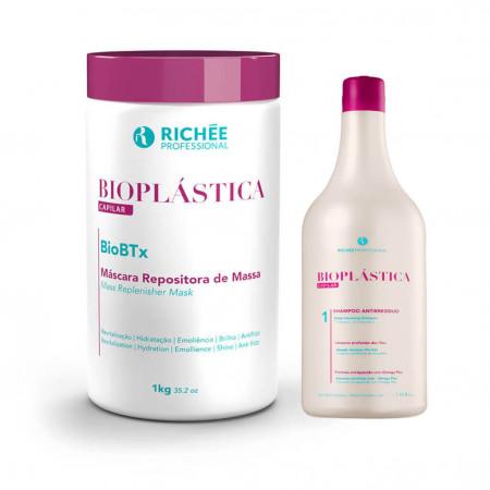 Richée Bioplástica Capilar BioBtx Repositor 1Kg + Shampoo 300ml