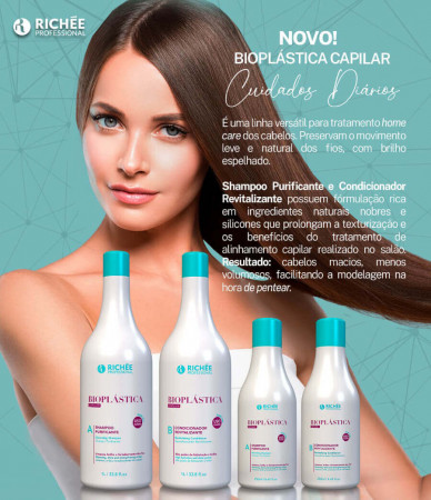 Richée Bioplástica Kit Duo Shampoo e Condicionador 2x1Litro