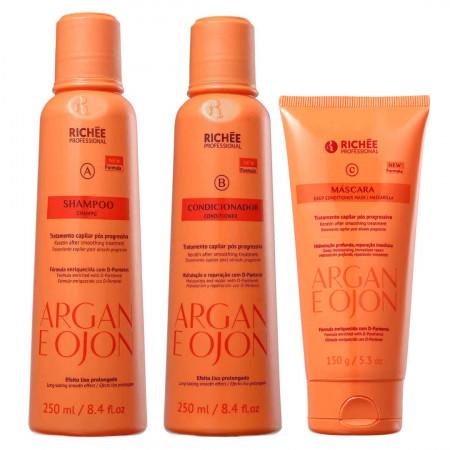 Richée Professional Argan e Ojon Kit Home Care (3 Produtos)