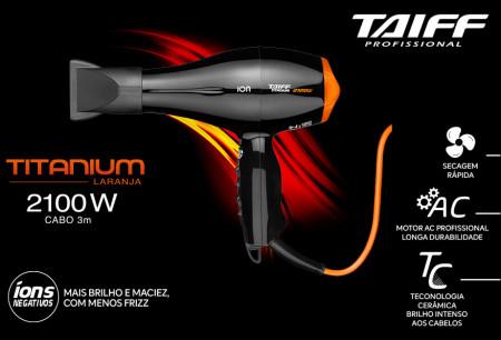 Secador de Cabelo Taiff Titanium Colors Laranja Profissional 2100w - 220v