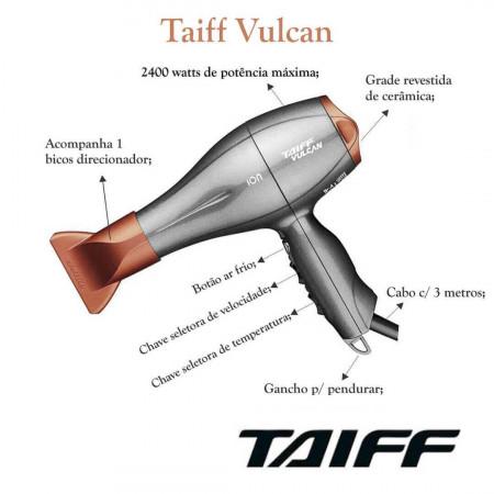 Secador De Cabelo Taiff Vulcan 2400w Profissional - 110v