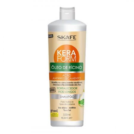 Skafe Keraform Shampoo Óleo de Rícino Fortalecedor - 500ml