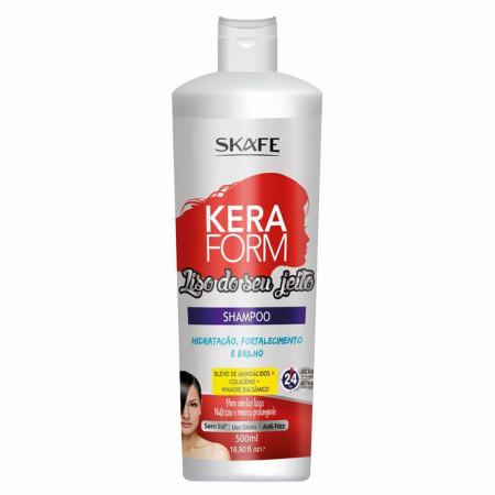 Skafe Keraform Shampoo e Condicionador Liso do Seu Jeito -2x500ml