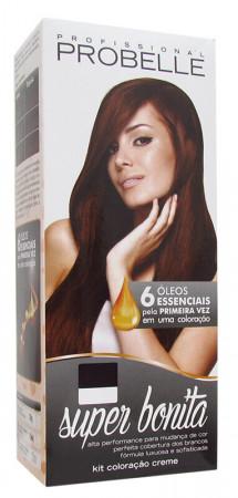 Probelle Coloração 5.0 Castanho Claro Super Bonita 50g + OX