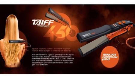 Prancha / Chapinha Taiff Titanium 450 Laranja 230º Bivolt