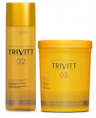 Itallian Trivitt Kit Shampoo 1 Litro + Mascara 1Kg - Pós Química