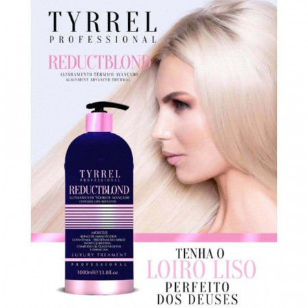 Tyrrel Reduct Blond Escova Progressiva Sem Formol p/ Loiras 1L