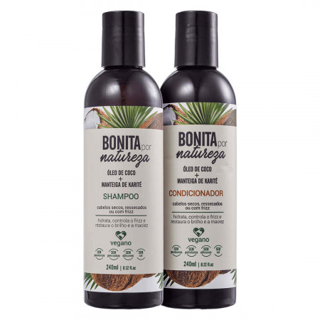 Yenzah Kit Bonita por Natureza Coco e Karité Kit 2 x 240ml