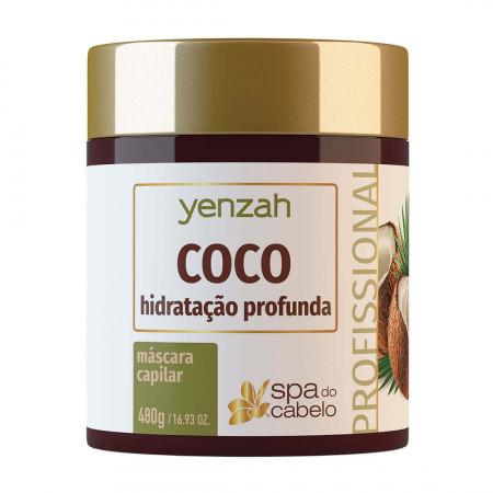 Yenzah Máscara SPA dos Cabelos Coco Hidratação Profunda 480g