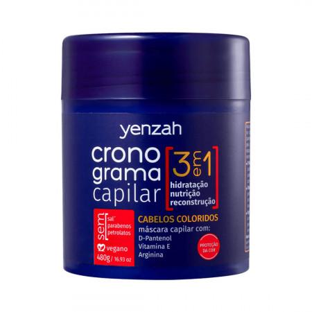 Yenzah Cronograma Capilar 3 em 1 Cabelos coloridos 3 Itens
